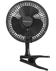 Pro Breeze Mini ventilator met clip - 2 snelheidsniveaus, 15 cm, sterke + stabiele klem - ideaal als tafelventilator op kantoor of thuis in de slaapkamer