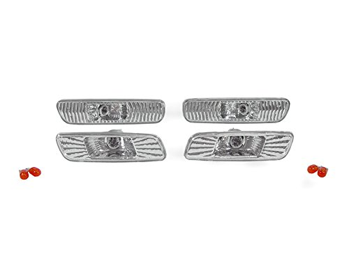 2000-2005 Lexus IS300 Euro Chrome Clear Front + Rear Bumper Side Marker Lights