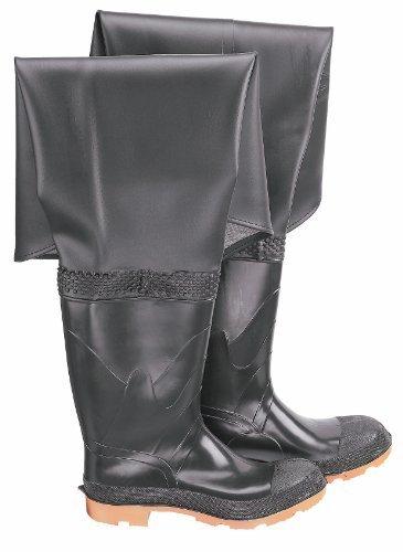 ONGUARD 86056 PVC/Polyester Men's orteil unie pêche de hanche avec Semelle à crampons, 32 cm, noir, taille 10 Par ONGUARD Industries