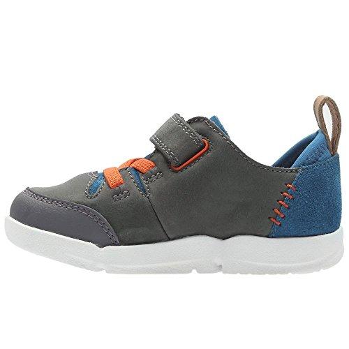 Zapatillas para ni�o, color gris , marca CLARKS, modelo Zapatillas Para Ni�o CLARKS EDEL 9 Gris Grey Combi