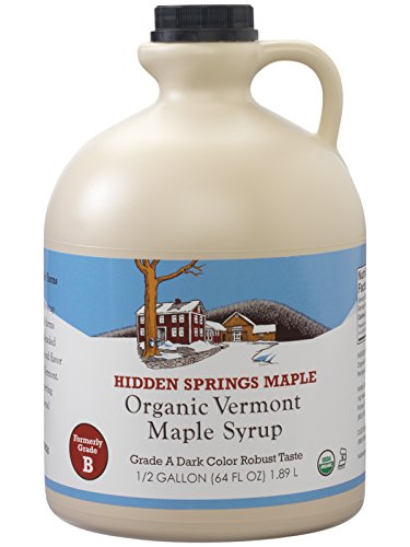 Hidden Springs Organic Vermont Maple Syrup, Dark Robust (Formerly Grade B), 64 Ounce made in Vermont