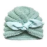 Little Kid Winter Warm Hat,Jchen(TM) Newborn Baby Boy Girl Knitted Turban Knotted Hat Headwear Cap Baby Keep Warm Knitted Cap for 0-2 Years Old (D)