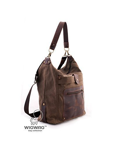 Image Unavailable. Image not available for. Color  Canvas leather bag ...
