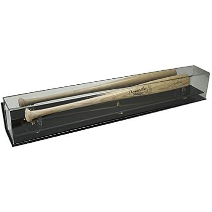 Image of Deluxe Acrylic Baseball Bat Display Case - Wall Mountable Display Cases