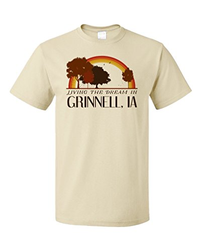 Living the Dream in Grinnell, IA | Retro Unisex T-shirt