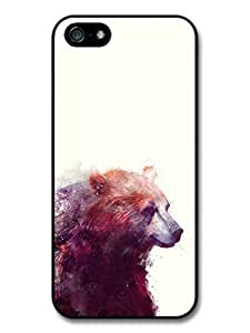 Bear Illustration on White Background, Beautiful Hipster Case For Sam Sung Note 2 Cover