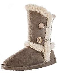 Womens Slip on Snow Boots Warm Winter Outdoor Anti-Slip Boots