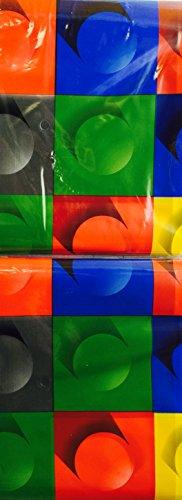 Building Blocks Party Plastic Backdrop