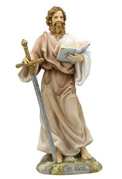 7.5 Inch St Paul the Apostle Statue Decor San Pablo Sculpture Religious Figurine