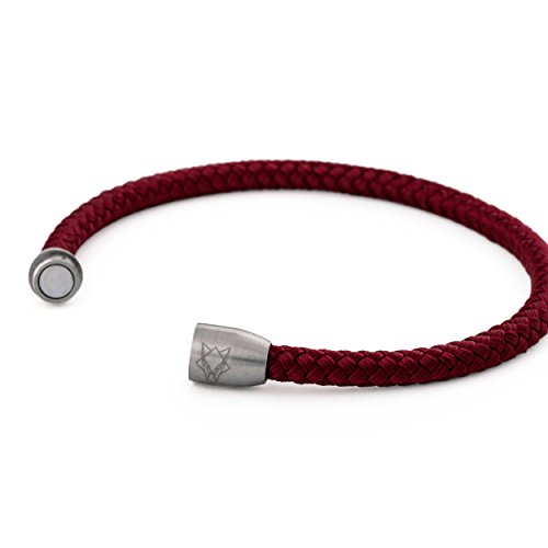 961fd046ce5e Akitsune Silva Pulsera de nylon - Pulseras para los hombres y mujeres de acero  inoxidable -