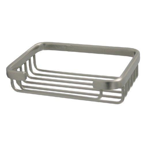 Allied Brass BSK-30SR-SCH Solid Rectangular Shower Basket, Satin Chrome (Basket Shower Satin Rectangular)