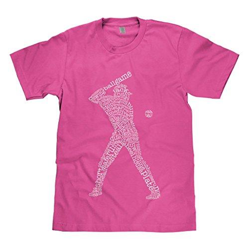 Mixtbrand Big Boys' Baseball Player Typography Youth T-Shirt M Hot Pink