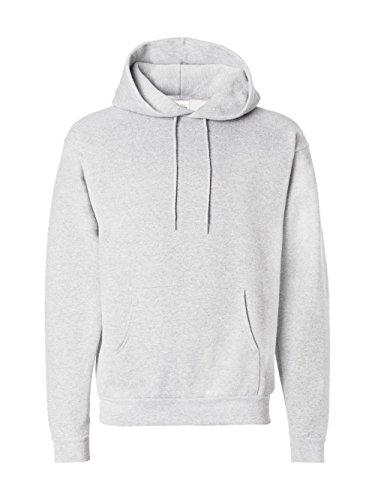 Hanes Men's Pullover EcoSmart Fleece Hooded Sweatshirt, Ash, Medium