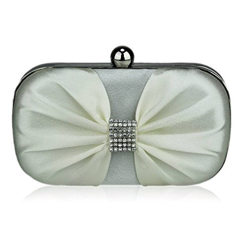 purse Handbag Clutch Diamante Luxury Out Beads Ivory Night Clutches LeahWard® Satin Clutch Women's Purse Ceremony For Wedding TCgcwBWa5q