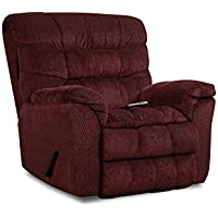 Simmons Upholstery Aegean Heat and Massage Rocker Recliner, Aegean Wine