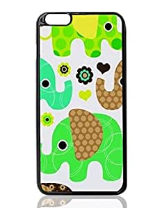 Cute Elephant Custom Hard Plastic back cell Phones Case for Apple iphone6 plus - iphone 6 plus 5.5 inch Case Cover