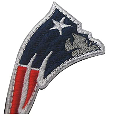"""New England Patriots Embroidered NFL Patch Hook and Loop Fasteners Backing Patches Badge Emblem Sign Applique Tactical Military Morale Patch 2.76"""" x 1.38"""" 2PCS"""