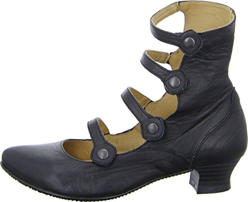 Double you by Dessy 46707 Damenstiefelette Leder Riemchen Schwarz