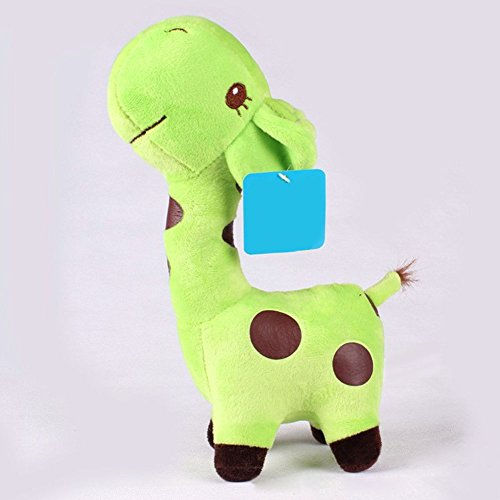 18x8cm Unisex Baby Kid Cute birthday Gift Plush blue Giraffe Soft Toy Animal Dear Doll (Paint Brush Birthday Candles)