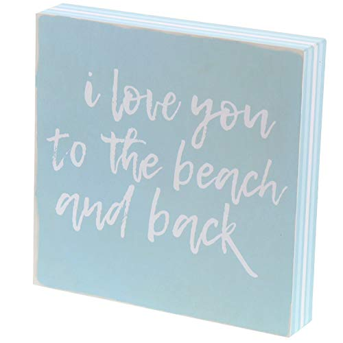 Barnyard Designs I Love You to The Beach and Back Box Sign Decorative Beach House Home Decor 8