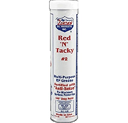 Amazon com: Lucas 10005-30 red n tacky #2 grease 14 5oz