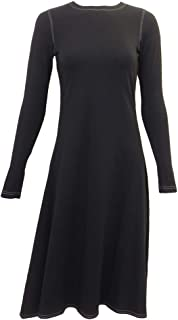 product image for Hard Tail Forever Long Sleeve Handkerchief Dress with Round Neck Style MF-42