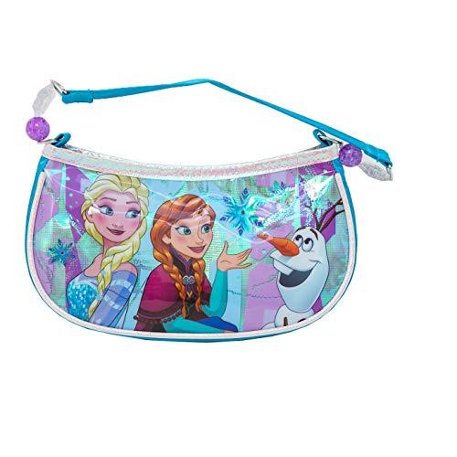(Disney Girls' Frozen Beaded Handbag Shoulder Bag Blue One)