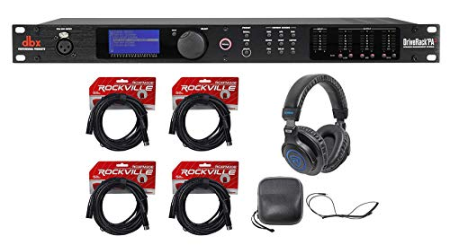 DBX DriveRack PA2 Sound Signal Processor Speaker Manage System+Headphones+Cables