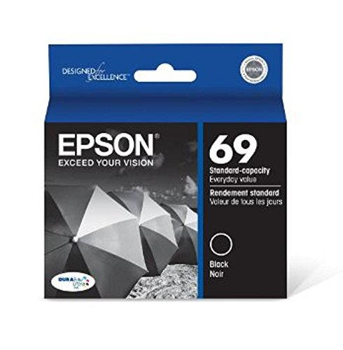 (Epson 69, (T069120-S) DuraBrite Ultra Black Ink Cartridge)