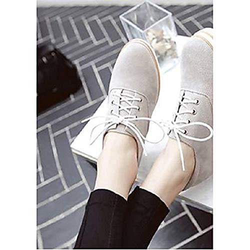 Grigio Scarpe UK6 CN39 Sneakers EU39 Per Primavera Nero PU Plateau TTSHOES Poliuretano Gray Comoda Donna Estate US8 EPwFZpq