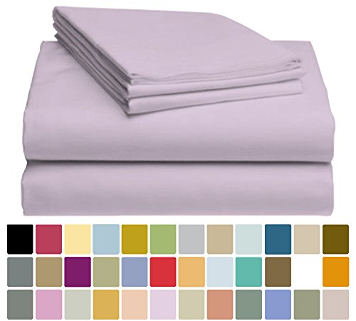 LuxClub Bamboo Sheet Set - Viscose from Bamboo - Eco Friendly, Wrinkle Free, Hypoallergenic, Antibacterial, Moisture Wicking, Fade Resistant, Silky, Stronger & Softer than Cotton - Periwinkle - King (Periwinkle Home Decor Fabric)
