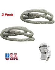 """Zinnor Premium Universal CPAP Tubing Hose 72"""" - 6 Foot, White Ergonomic CPAP and BIPAP Hose, CPAP Tubing Hose Replacement for the ResMed S9 CPAP - 19 mm Diameter (2 Pack)"""