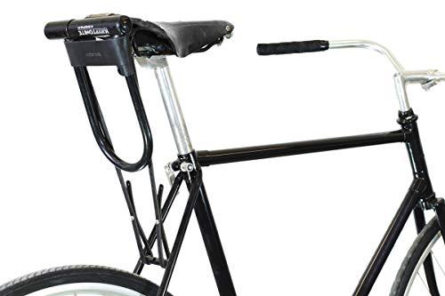 U-Lock Holster for Kryptonite Bicycle Locks - Black Leather