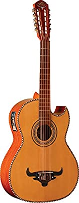 Oscar Schmidt OH42SE Solid Cedar Top 10-String Bajo Quinto Acoustic-Electric Guitar with Deluxe Padded Gig Bag