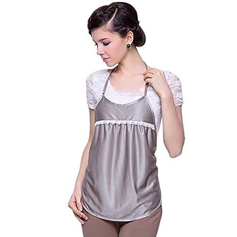 Protección contra la radiación Radiación traje vestido de la maternidad las mujeres embarazadas ropa de fibra atractivo Plata: Amazon.es: Deportes y aire ...