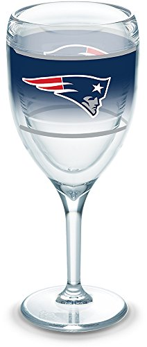 Tervis 1292834 NFL New England Patriots Original Wine Glasses, 9 oz, Clear ()