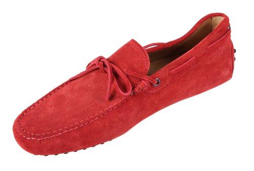 Tod's men's suede loafers moccasins gommini blu US size 9.5 XXM0GW05470RE0U016