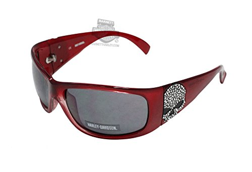 Harley-Davidson Women's Sun Bling Willie G. Skull Red Sunglasses - B&g Sunglasses