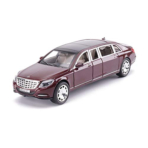 - LIUFS-Alloy Car Alloy Car Model Maybach Pullman S600 Children's Toy Six Doors Can Be Opened (Color : Red)