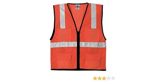 Orange 1192 L-XL ML Kishigo 1192 Economy Series Ultra Cool Mesh 6 Pocket Vest Fits Large and Extra Large