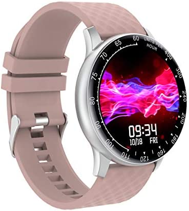 Smart Watch, Hongmed Fitness Watch for Women with Blood Pressure Oxygen Monitor for Android Phones and iPhone Compatible, Waterproof Fitness Tracker Pink