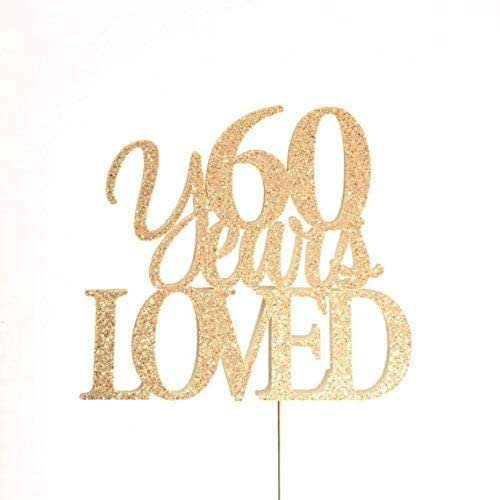 60th Anniversary Topper 60th Birthday Cake Topper Atelier Elegance Fabulous Since 1960 Cake Topper