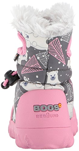 Boot Multi Winter B Grey Moc Dark Bears Bogs Toddler Insulated Kids' Waterproof w06qUPAq