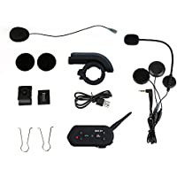 E6 Cycling Intercom Headset, Waterproof 1200M 6-Rider Bluetooth Sports Speaker for Riding, Offroad
