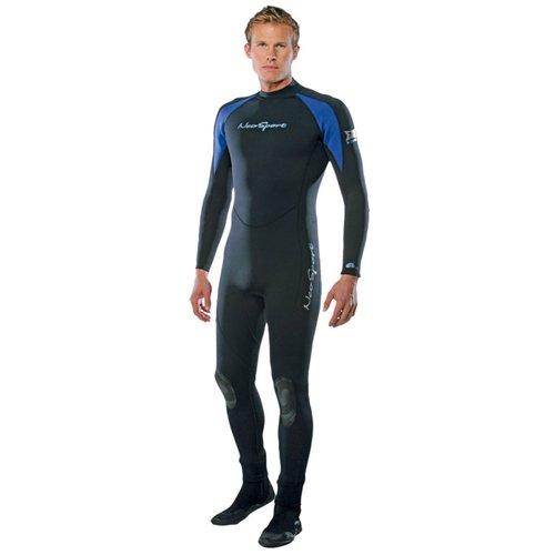 NeoSport Wetsuits Men's XSPAN Full Jumpsuit, Blue Trim, XX-Large - Diving, Snorkeling & Wakeboarding
