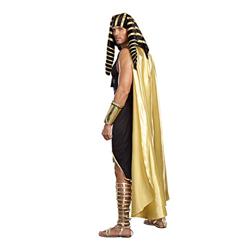 Dreamgirl Mens King of Egypt King Tut Costume, Gold, Medium (38-40) - 2X-Large (50-52)