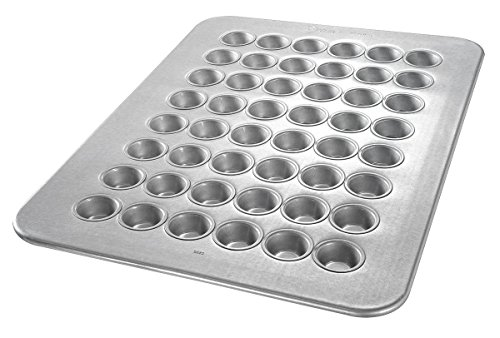 Chicago Metallic - 45295 - Mini Muffin Pan, 17-7/8 W x 25-7/8 L x 7/8 D Glazed Aluminized (Glazed Mini Muffins)