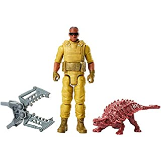 Jurassic World Basic Figure Mercenary & Ankylosaurus