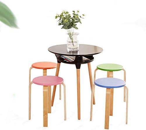 SHJR Lot de 4 chaises empilables, Chaise de Bureau, chaises de Cuisine, tabourets de Salon, tabourets de Bar, mobilier de Maison et de Bureau