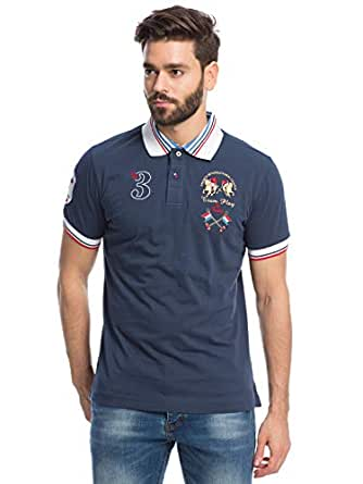 Pierre Cardin Navy Shirt Neck Polo For Men